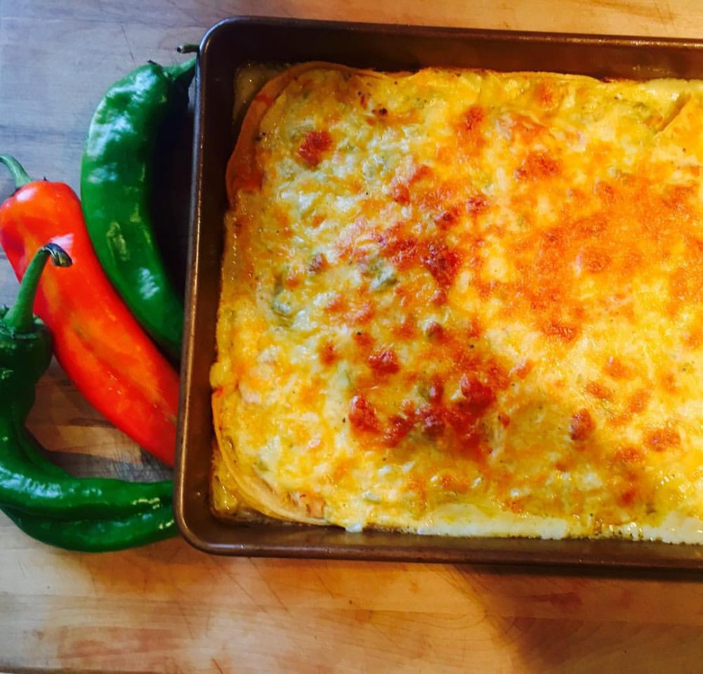 Green Chile Enchilada Casserole