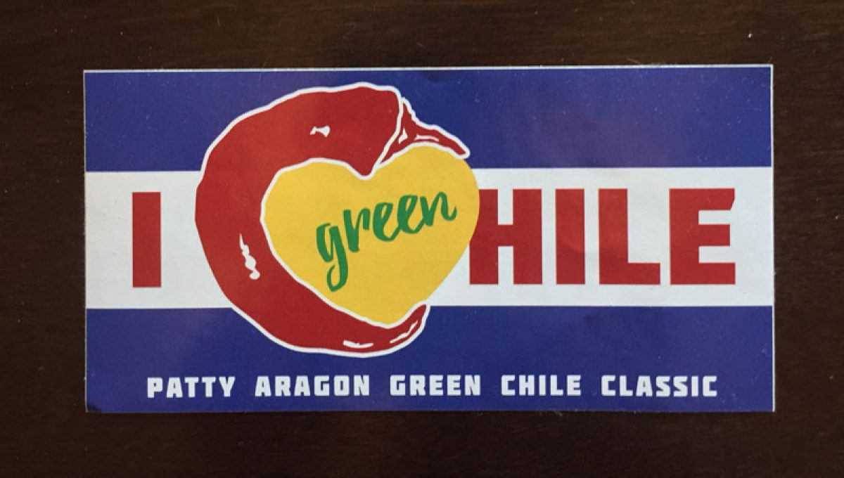 I Love Green Chile Bumper Sticker