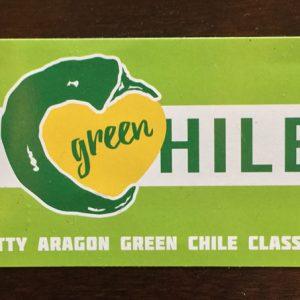 "I Love Green Chile 2X4"" Stickers"